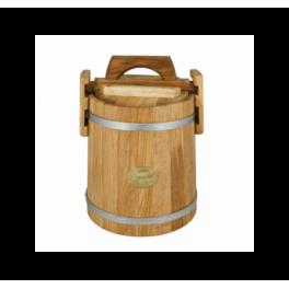 Кадка дубовая 10 л «Бонпос» (обручи из нерж. стали)