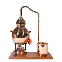 Аламбик сувенирный 2,5 л на деревянной основе со спиртовой горелкой
