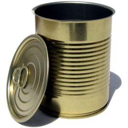 Металлическая банка с крышкой EASY OPEN и кольцом