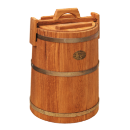 Кадка дубовая 50 л «Бонпос» (оцинк. обручи)