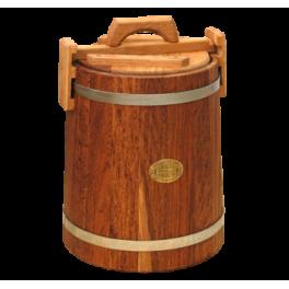 Кадка дубовая 5 л «Бонпос» (оцинк. обручи)