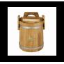 Кадка дубовая 5 л «Бонпос» (обручи из нерж. стали)