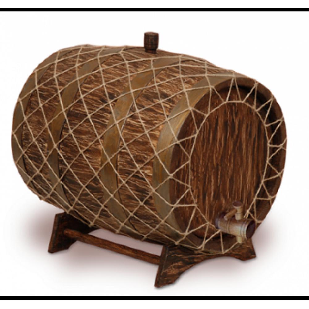Купить Бочка с краном под старину 25 л Премиум (кавказский дуб) в Уфе