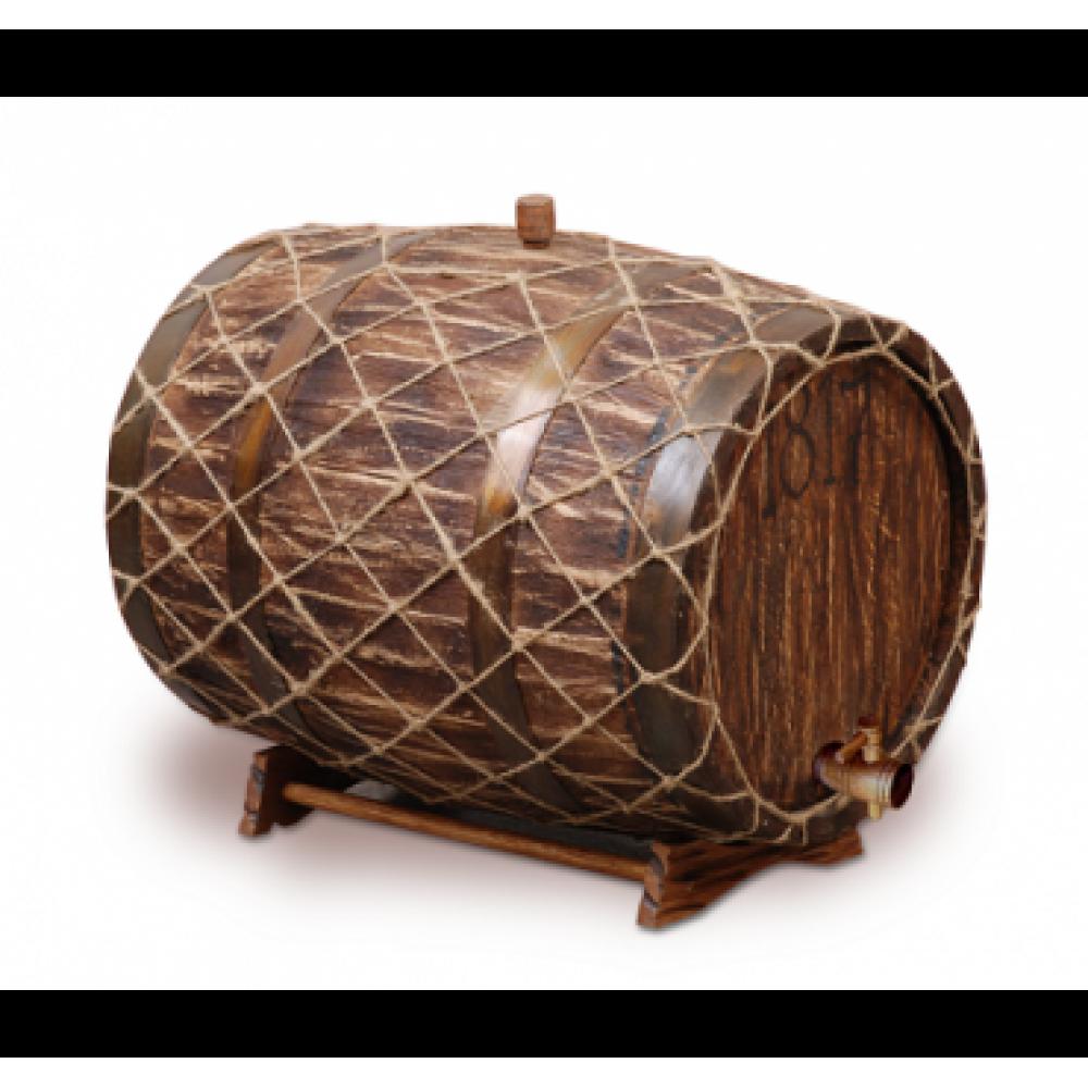 Купить Бочка с краном под старину 50 л Премиум (кавказский дуб) в Абакане