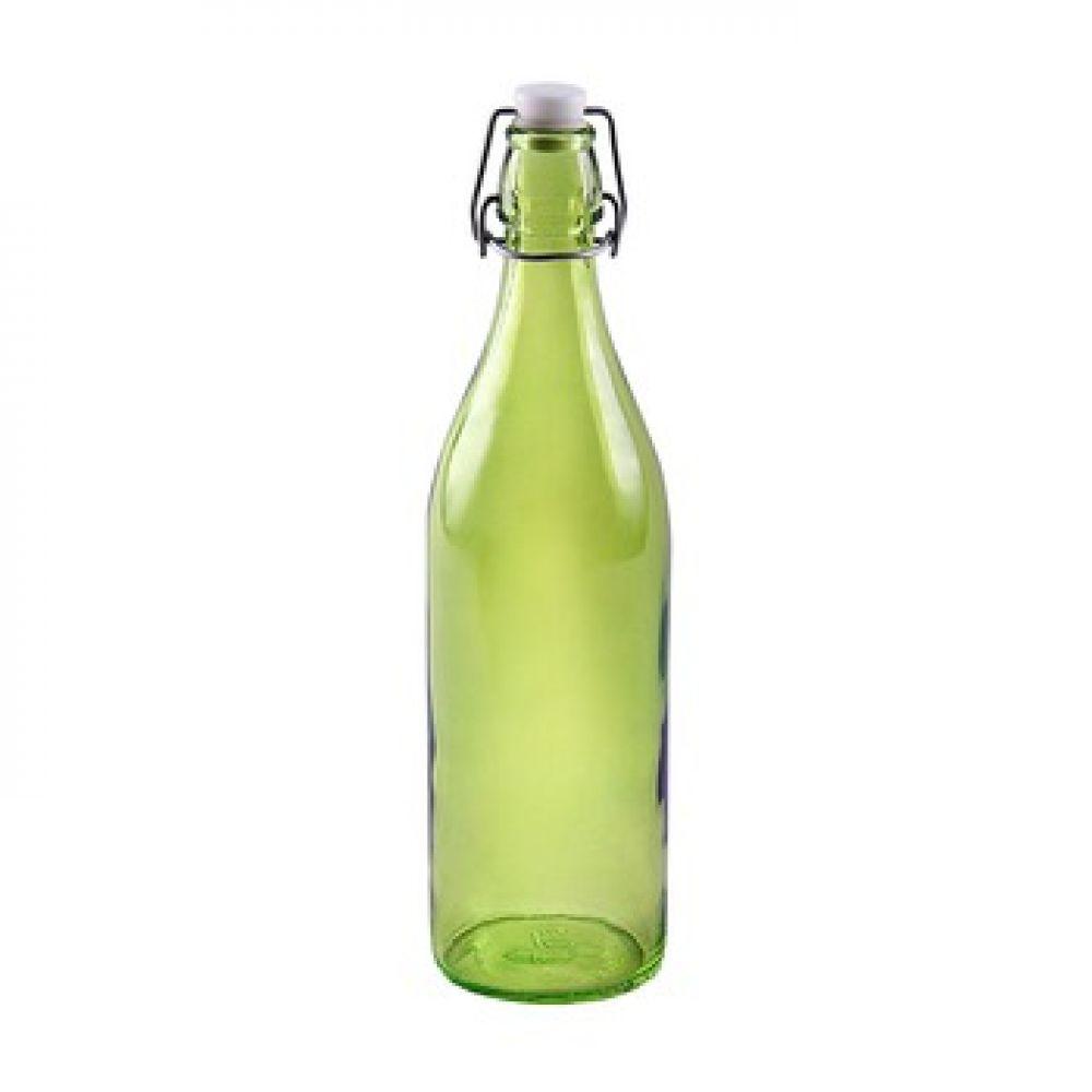 Купить Стеклянная бутылка 1 л зеленая в Абакане