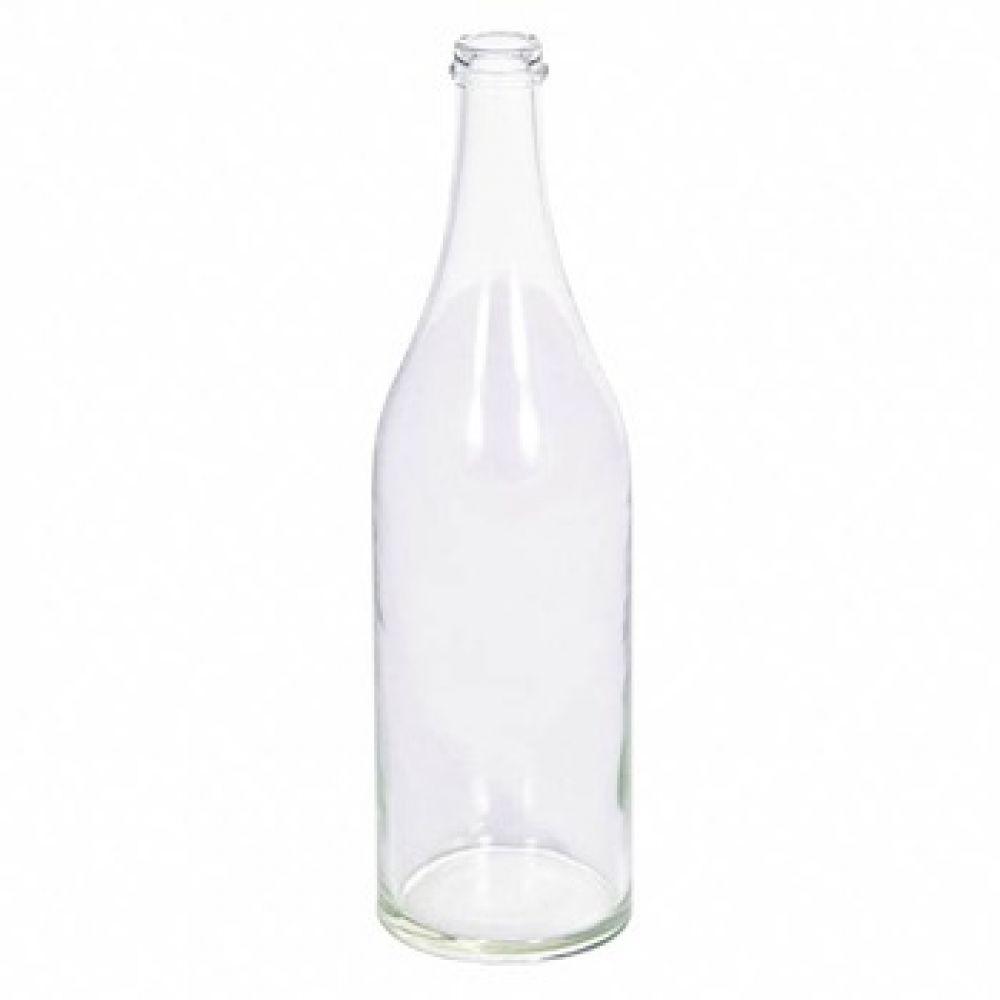 Купить Стеклянная бутылка 1 л прозрачная в Уфе