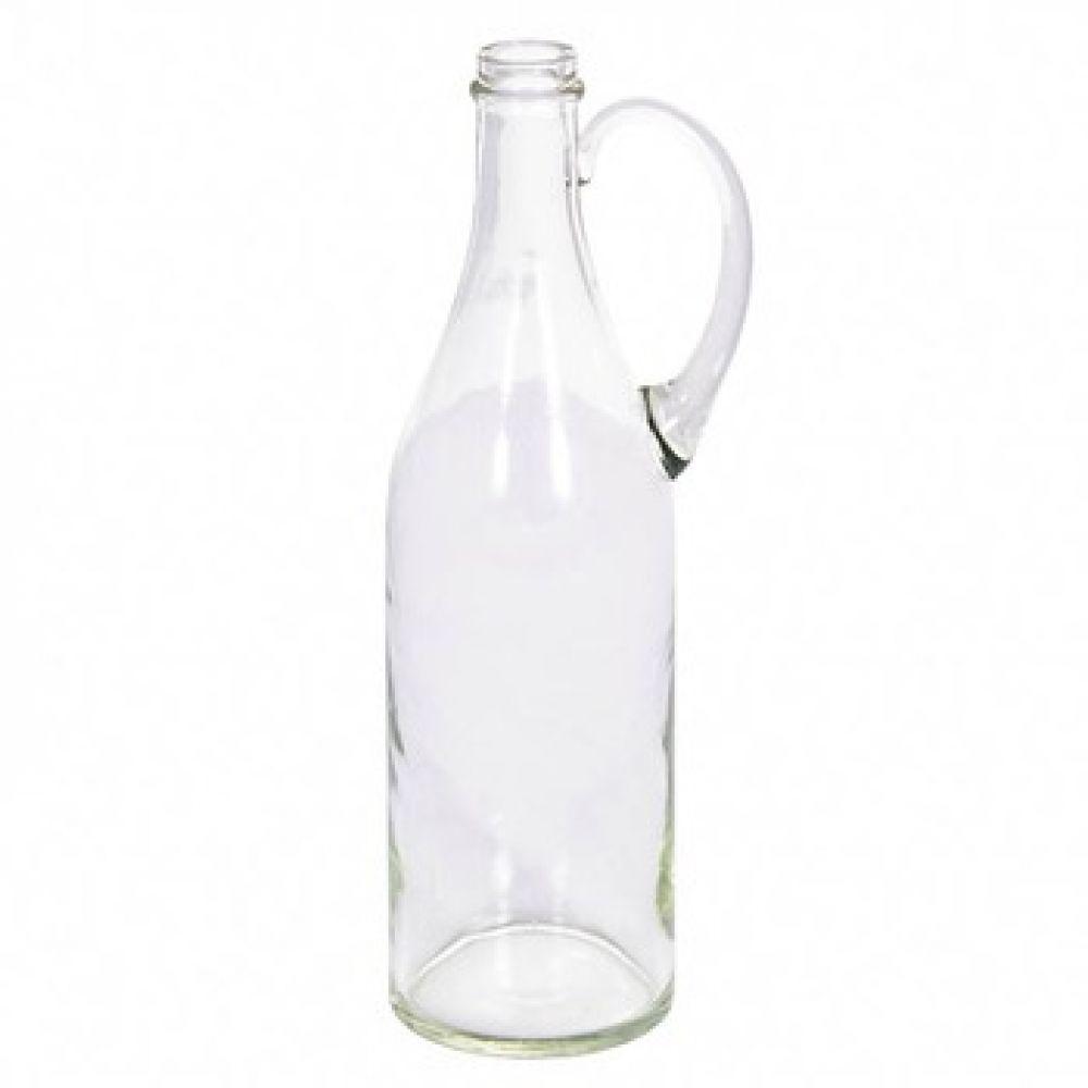 Купить Стеклянная бутылка 1 л прозрачная с ручкой в Абакане