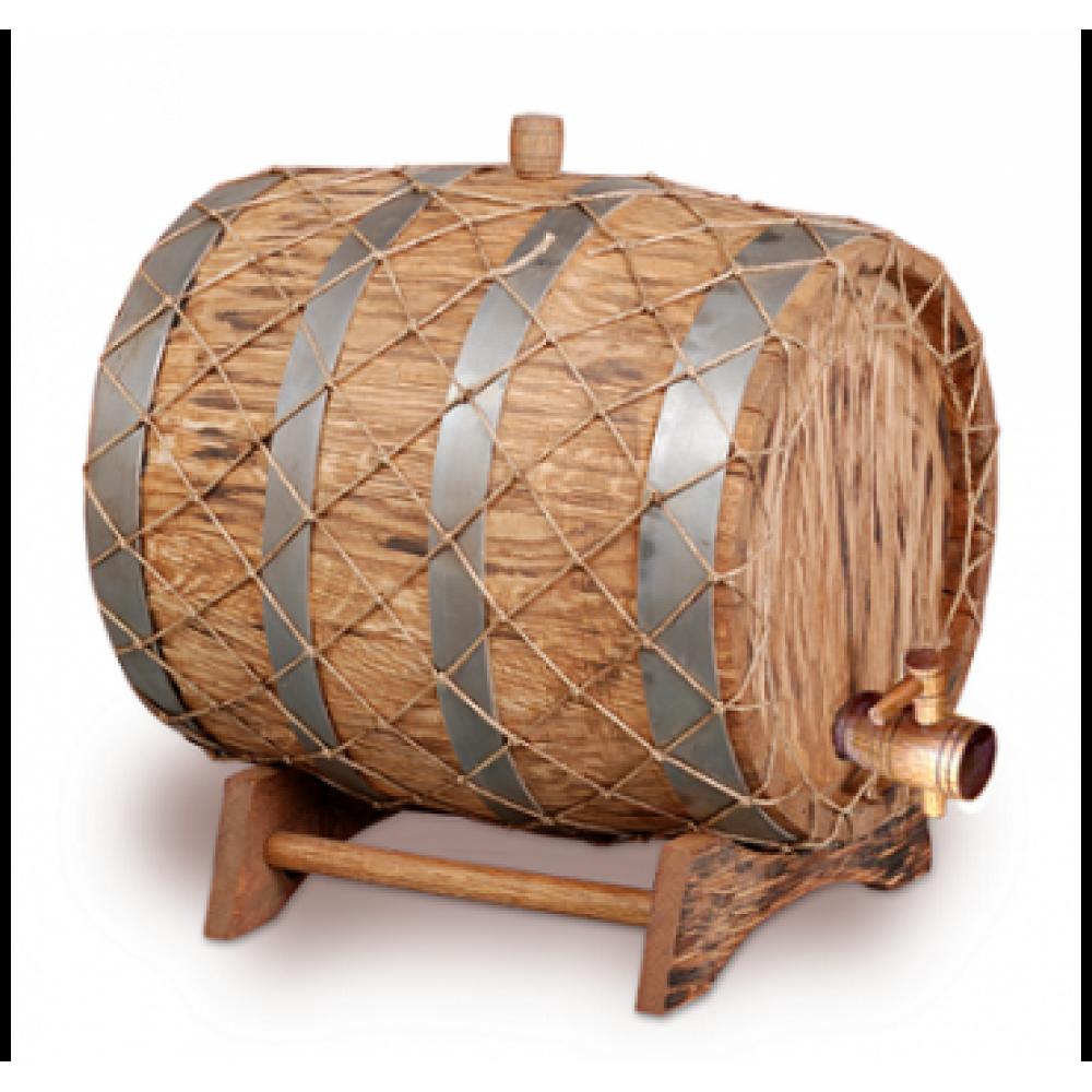 Купить Бочка с краном под старину 15 л Премиум (кавказский дуб) в Уфе