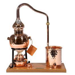 Аламбик сувенирный 0,7 л на деревянной основе со спиртовой горелкой