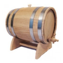 Бочка для вина 10 л Люкс (украинский дуб)