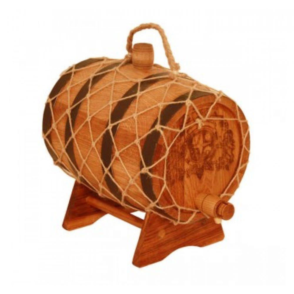 Купить Бочка с краном 5 л Премиум (кавказский дуб) в Абакане