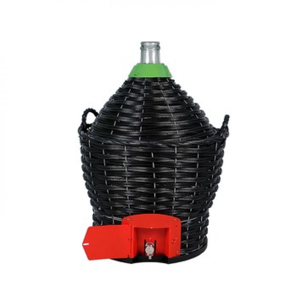 Бутыль в пластиковой корзине 34 л с краном в Абакане