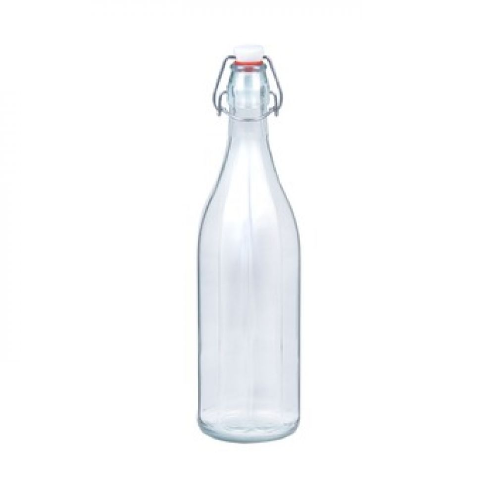 Купить Стеклянная бутылка «Дарья-Грань» 1 л с механической крышкой в Уфе
