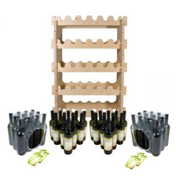 Полка для бутылок + комплект бутылок «Тоскана» (48 шт.)
