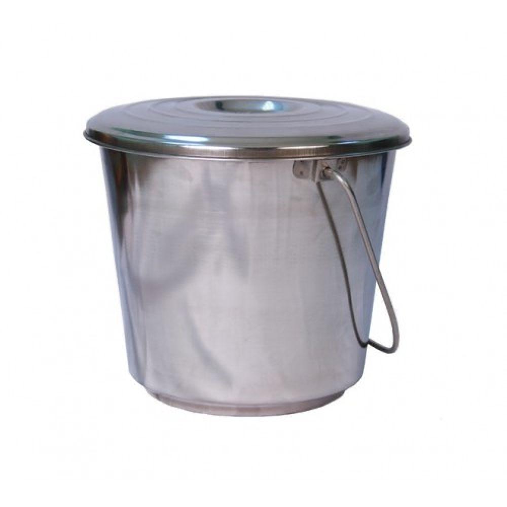 Купить Ведро из нержавейки с крышкой 15 литров в Уфе