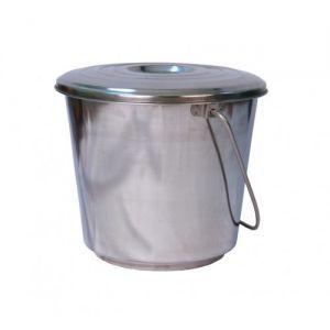 Ведро из нержавейки с крышкой 15 литров