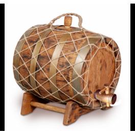 Бочка для вина под старину 10 л Премиум (кавказский дуб)