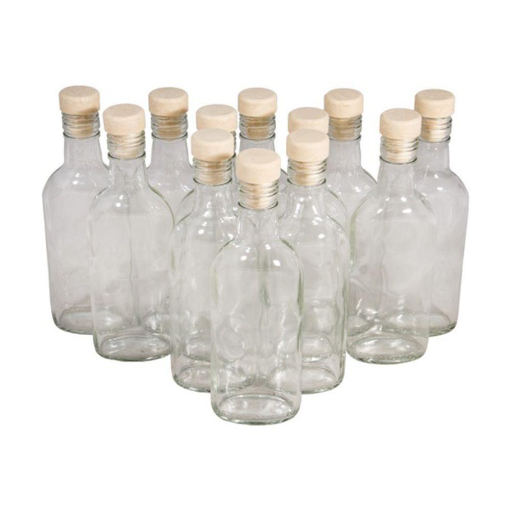 Комплект бутылок «Чекушка» с пробкой 0,25 л (12 шт.) в Абакане